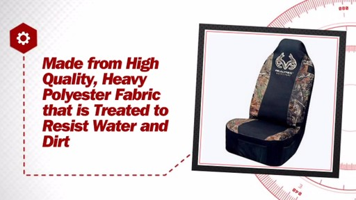 Realtree Universal Bucket Seat Cover RSC4002 - image 7 from the video