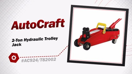 AutoCraft 2-Ton Hydraulic Trolley Jack AC924/T82002 - image 3 from the video