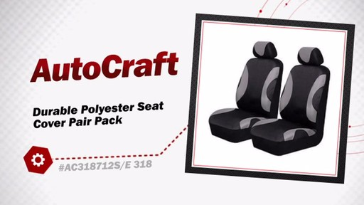 AutoCraft Durable Polyester Seat Cover Pair Pack AC318712G - image 3 from the video
