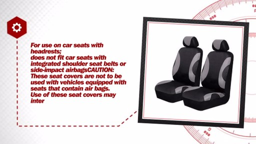 AutoCraft Durable Polyester Seat Cover Pair Pack AC318712G - image 6 from the video
