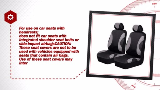 AutoCraft Durable Polyester Seat Cover Pair Pack AC318712G - image 7 from the video