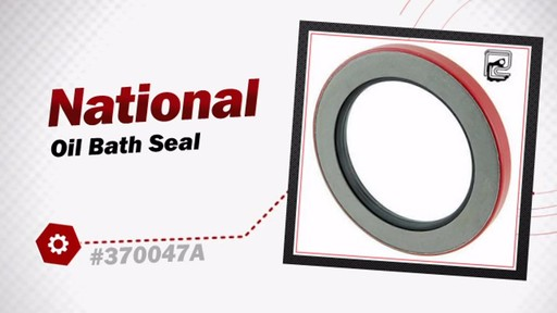 National Oil Bath Seal 370047A - image 3 from the video