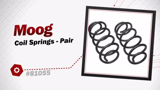 Moog Coil Springs - Pair 81055 - image 3 from the video