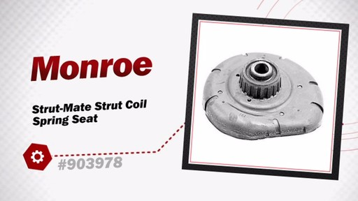 Monroe Strut-Mate Strut Coil Spring Seat 903978 - image 3 from the video
