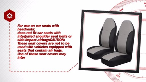 AutoCraft Durable Polyester Seat Cover Pair Pack AC3545214G - image 6 from the video