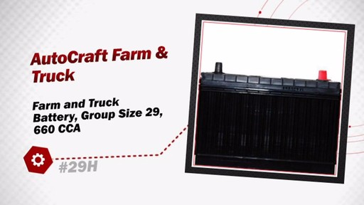 Autocraft Farm and Truck Battery, Group Size 29, 660 CCA 29H - image 3 from the video