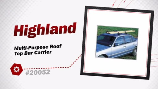 Highland Multi-Purpose Roof Top Bar Carrier 2005200 - image 3 from the video
