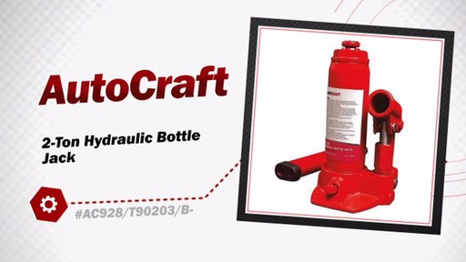AutoCraft 2-Ton Hydraulic Bottle Jack EQP1002PV/AC928 - image 3 from the video