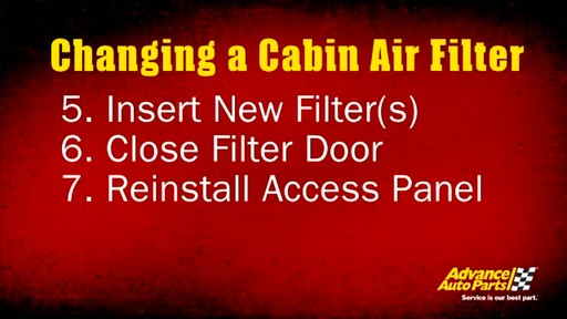Changing a cabin air filter - image 10 from the video