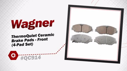 Wagner ThermoQuiet Ceramic Brake Pads - Front (4-Pad Set) QC914 - image 2 from the video