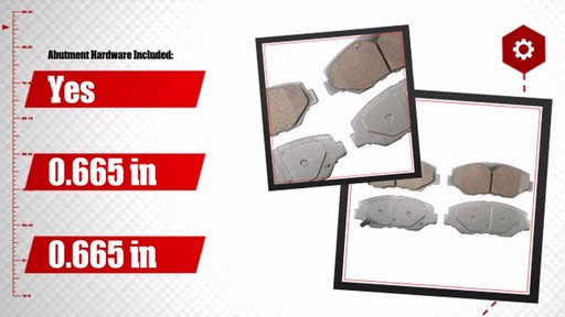 Wagner ThermoQuiet Ceramic Brake Pads - Front (4-Pad Set) QC914 - image 7 from the video