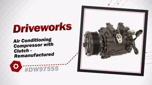 Air Conditioning Compressor with Clutch - Remanufactured - image 3 from the video