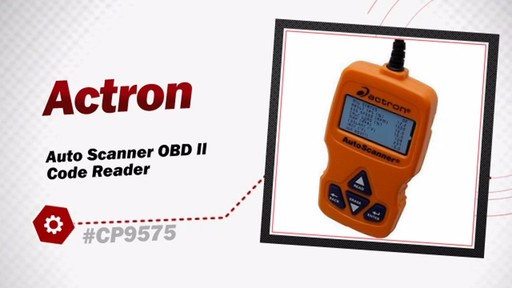 Actron Auto Scanner OBD II Code Reader CP9575 - image 3 from the video