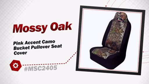 Mossy Oak Pink Accent Camo Bucket Pullover Seat Cover MSC2405 - image 3 from the video