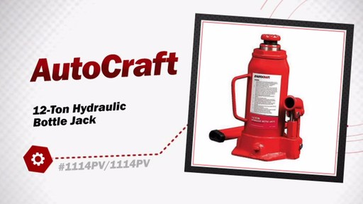 12-Ton Hydraulic Bottle Jack - image 3 from the video