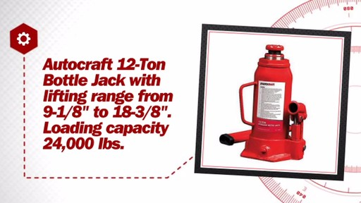 12-Ton Hydraulic Bottle Jack - image 7 from the video