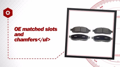 Wagner ThermoQuiet Semi-Metallic Brake Pads - Front (4-Pad Set) MX1083 - image 5 from the video