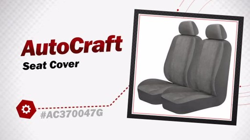 AutoCraft Seat Cover AC370047G - image 3 from the video