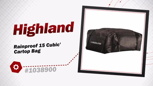 Highland Rainproof 15 Cubic' Cartop Bag 1038900 - image 3 from the video