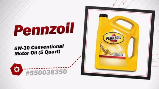 Pennzoil 5W-30 Conventional Motor Oil (5 Quart) 550038350 - image 3 from the video