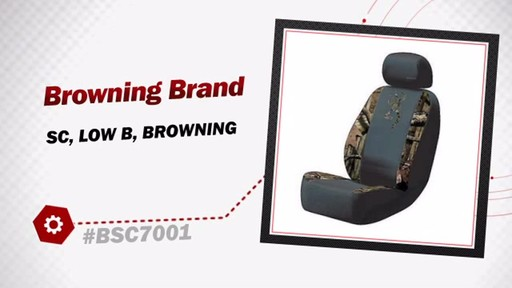 Browning Brand Low Back Seat Cover - Camo BSC7001 - image 3 from the video