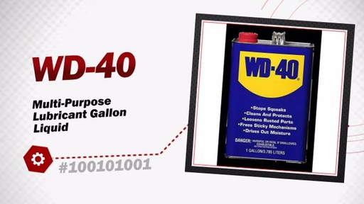 WD-40 Multi-Purpose Lubricant Gallon Liquid 100101001 - image 3 from the video