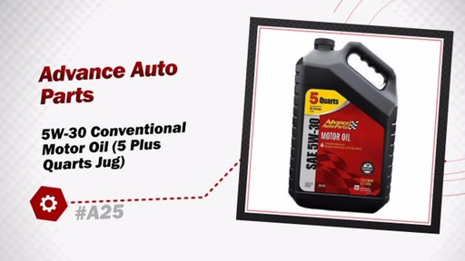 Advance Auto Parts 5W-30 Conventional Motor Oil (5 Plus Quarts Jug) A25 - image 3 from the video