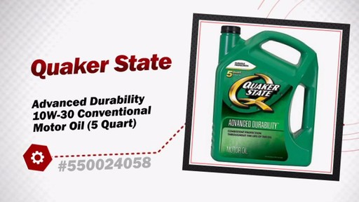 Quaker state advanced durability 10w 30 conventional motor for Advance auto parts motor oil