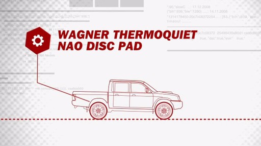 Wagner ThermoQuiet Ceramic Brake Pads - Front (4-Pad Set) QC815A - image 3 from the video