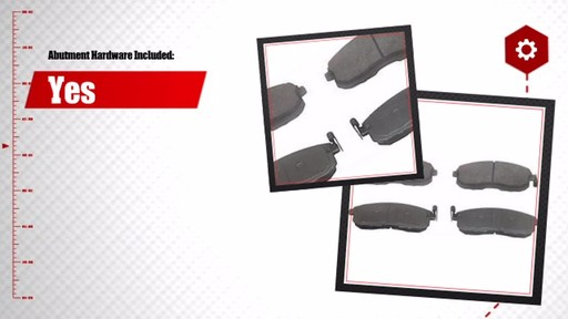 Wagner ThermoQuiet Ceramic Brake Pads - Front (4-Pad Set) QC815A - image 6 from the video