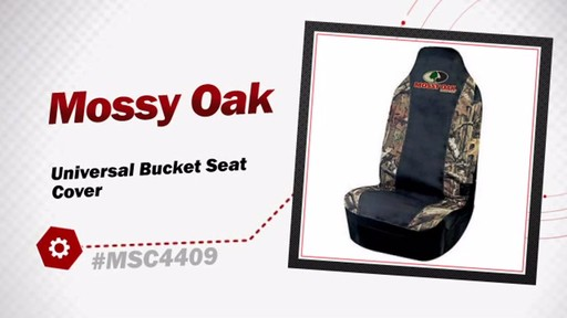 Mossy Oak Universal Bucket Seat Cover MSC4409 - image 3 from the video