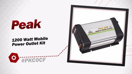 Peak 1200 Watt Mobile Power Outlet Kit PKC0CF - image 3 from the video