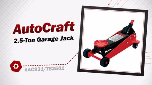 AutoCraft 2.5-Ton Garage Jack EQP931PV/AC931 - image 3 from the video