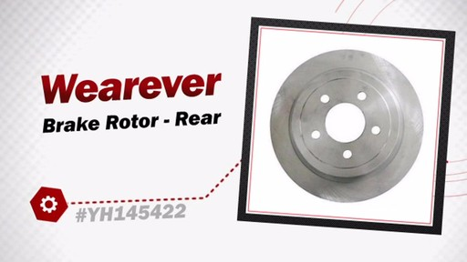 Wearever Brake Rotor - Rear YH145422 - image 3 from the video