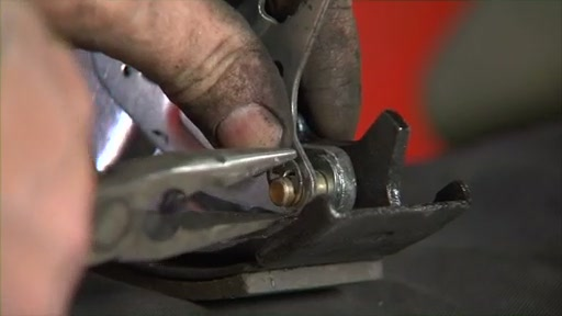 Wearever Changing Drum Brakes Step 3 - Transfer the Pin and Install Parking Brake FR538 - image 10 from the video