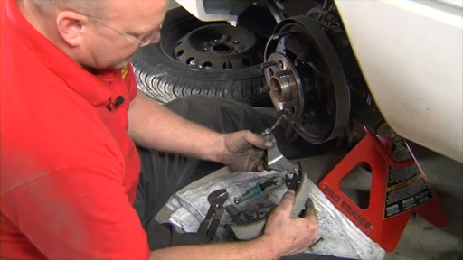 Wearever Changing Drum Brakes Step 3 - Transfer the Pin and Install Parking Brake FR538 - image 5 from the video