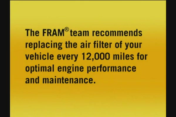 FRAM Installing Air Filters - FRAM and Advance Auto Parts CA6541 - image 10 from the video