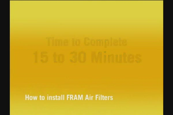 FRAM Installing Air Filters - FRAM and Advance Auto Parts CA6541 - image 2 from the video