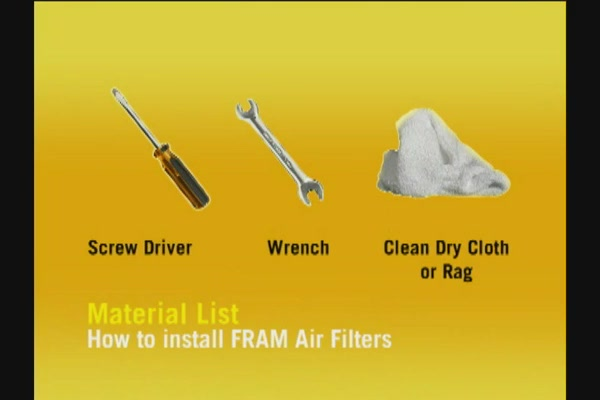 FRAM Installing Air Filters - FRAM and Advance Auto Parts CA6541 - image 3 from the video