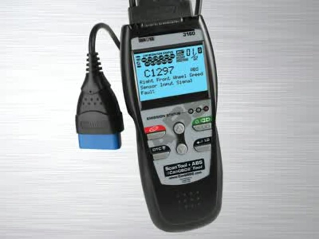 Innova 3160 OBD II CAN ABS SRS Live Data Diagnostic Scan Tool 3160 - image 1 from the video