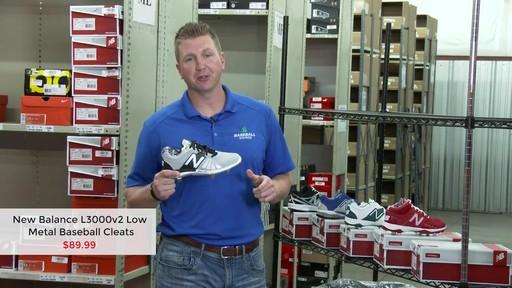new balance men's l3000v2 low metal baseball cleats