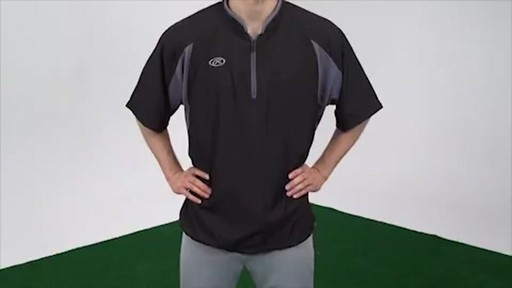 Rawlings Batting Cage Jacket: Short Sleeve Baseball Jacket ...