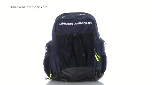 navy under armour backpack