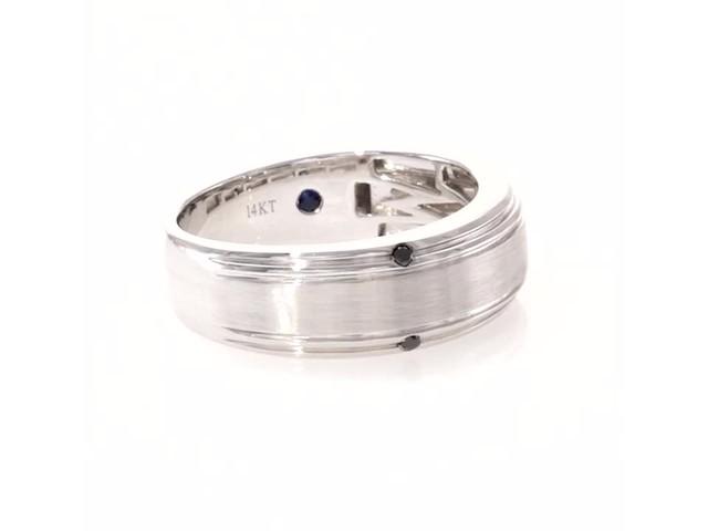 d64d9d973cf6b Vera Wang Love Collection Men s 0.04 CT. T.W. Enhanced Black Diamond Four  Stone Wedding Band