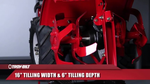 Troy-Bilt Rear Tine Tiller, 208 CC - image 7 from the video