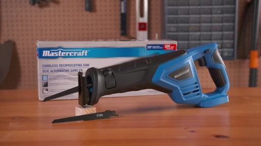 Mastercraft 20V Max Reciprocal Saw - image 10 from the video