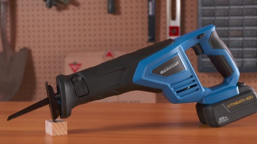 Mastercraft 20V Max Reciprocal Saw - image 6 from the video