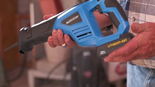 Mastercraft 20V Max Reciprocal Saw - image 8 from the video