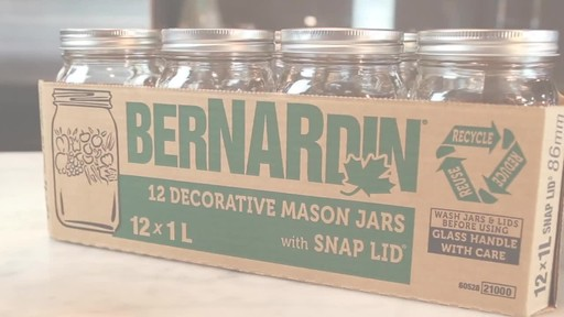 Bernardin Decorative Mason Jar 1 L Wide Mouth - image 1 from the video