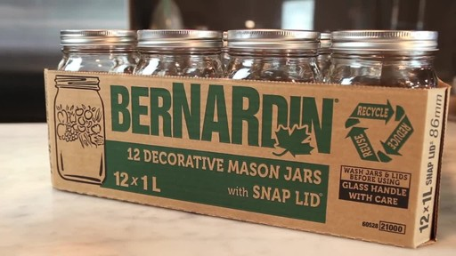 Bernardin Decorative Mason Jar 1 L Wide Mouth - image 2 from the video